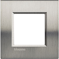 LL - cover plate 2P brushed steel