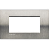 LL - cover plate 4P brushed steel