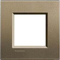 LivingLight - placca Silk quadra in metallo 2 posti square
