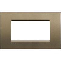 LivingLight - placca Silk quadra in metallo 4 posti square