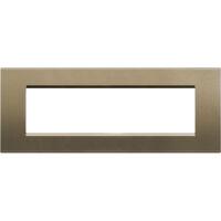 LivingLight - placca Silk quadra in metallo 7 posti square