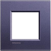LivingLight - placca Silk quadra in metallo 2 posti club