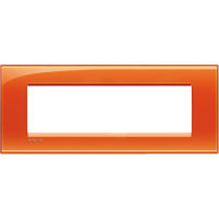LivingLight - placca Deep quadra in tecnopolimero 7 posti arancio