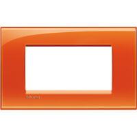 LivingLight - placca Deep quadra in tecnopolimero 4 posti arancio