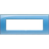 LivingLight - placca Deep quadra in tecnopolimero 7 posti azzurro