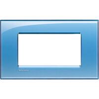 LivingLight - placca Deep quadra in tecnopolimero 4 posti azzurro