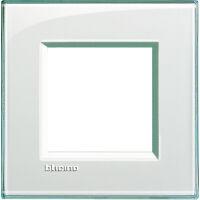 LivingLight - placca Kristall quadra in tecnopolimero 2 posti acquamarina