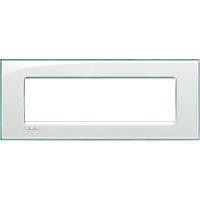 LivingLight - placca Kristall quadra in tecnopolimero 7 posti acquamarina