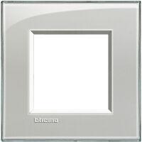 LivingLight - placca Kristall quadra in tecnopolimero 2 posti grigio ghiaccio