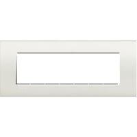 LivingLight - placca Neutri quadra in tecnopolimero 7 posti bianca