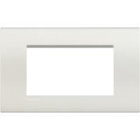 LivingLight - placca Neutri quadra in tecnopolimero 4 posti bianca