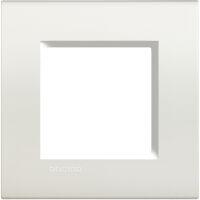LivingLight - placca Neutri quadra in tecnopolimero 2 posti bianca