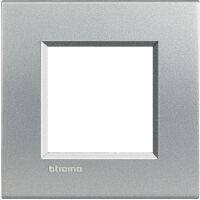 LivingLight - placca Neutri quadra in tecnopolimero 2 posti tech