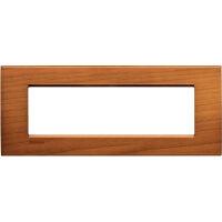 LivingLight - placca Essenze quadra in legno massello 7 posti ciliegio americano
