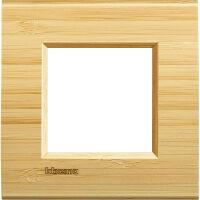 LivingLight - placca Essenze quadra in legno massello 2 posti bamboo