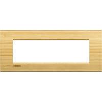 LivingLight - placca Essenze quadra in legno massello 7 posti bamboo