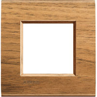 LivingLight - placca Essenze quadra in legno massello 2 posti noce nazionale