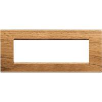 LivingLight - placca Essenze quadra in legno massello 7 posti noce nazionale