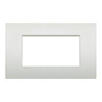 LivingLight Air - placca Neutri in metallo 4 posti bianco perla