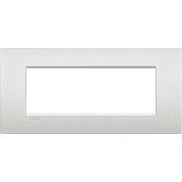 LivingLight Air - placca Neutri in metallo 7 posti bianco perla