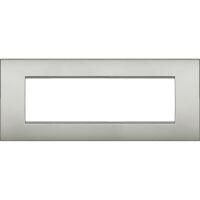 LivingLight Air - placca Neutri in metallo 7 posti argento lunare