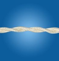 Silk ivory twisted cable mm 2x0.50