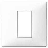 Plana - placca in tecnopolimero 1 posto bianco