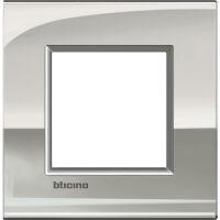LivingLight Air - placca Lucenti in metallo 2 posti palladio