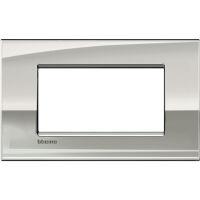 LivingLight Air - placca Lucenti in metallo 4 posti palladio
