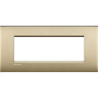 LivingLight Air - placca Lucenti in metallo 7 posti oro satinato