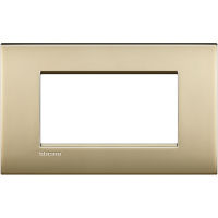 LL - cover plate 4P ice gold mat