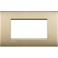LivingLight Air - placca Lucenti in metallo 4 posti oro satinato