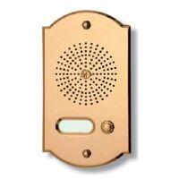 Pulsantiera citofonica 1 pulsante in ottone PLM ORO