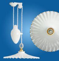 Lampadario soffitto saliscendi Ventaglio gocce oro Ø400