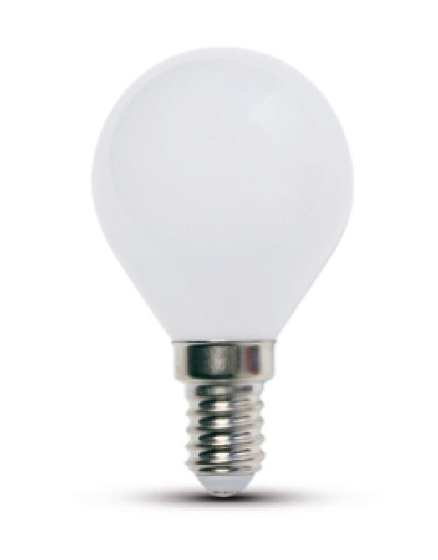 Duralamp lg453w lampada led sfera smerigliata e14 03w for Lampada led e14