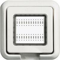 LivingLigh Bianco - supporto e placca 2 posti IP 55