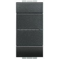 LL - 2 way ax switch 1P 16A 1m anthracite
