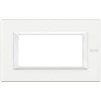 Axolute - placca rettangolare Bianchi 4 posti bianco AXOLUTE