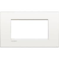 LivingLight Air - placca Monochrome in metallo 4 posti bianco puro