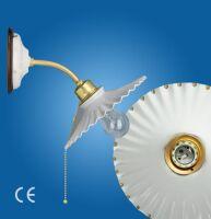 Ventaglio gocce d'oro with porcelain plate ø 180