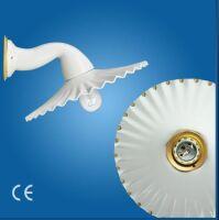 Applique Ventaglio ø180 gocce d'oro with porcelain arm