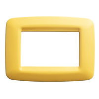 PLAYBUS YOUNG 3 GANG CORN YELLOW PLATE