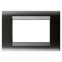 PLAYBUS 3 GANG SLATE GREY PLATE