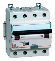 Differenziale magnetotermico 4P C10 Idn 0,3A 6KA AC 4M BTIDIN60