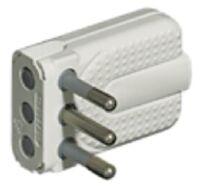 Corner plug 16A whit