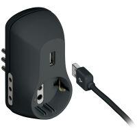 Adattatore multiplo piccola e tedesca grigio con caricatore USB B3