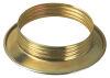 Anello E27 metallo fermaparalume zincato lucido ottone