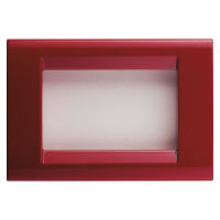 PLAYBUS 3 GANG CLASSICAL BURGUNDY PLATE