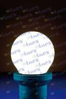 Lampada led sfera opale E27 0,5W 230V 4000k 6 SMD LED