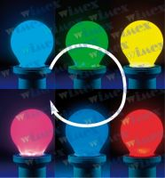 Lampada led sfera opale E27 0,5W 230V RGB 6 SMD LED